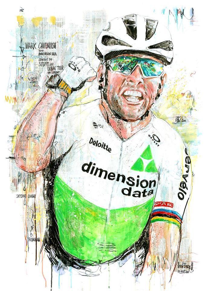 Mark Cavendish wins Stage 3 Dubai Tour 2018 by Horst Brozy