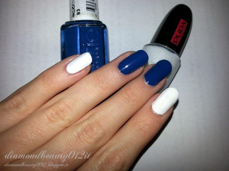 Essie nail lacquer Mesmerized (medio e anulare)  Pupa Milano effetto Gel n°72 ( mignolo, indice e pollice)