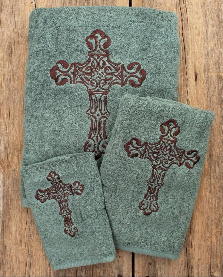 Western Cross Bathroom Towel 3 Piece Set