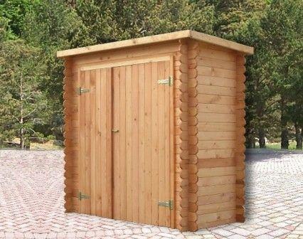 Una vera baita di montagna in miniatura l 39 armadione - Ripostiglio in legno da giardino ...