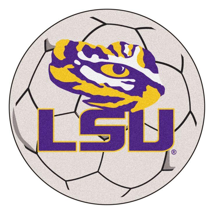 LSU Tigers Soccer Ball Rug