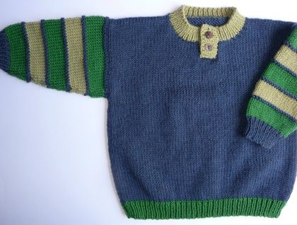 LEO THE ITALIAN is a button necked jersey in super light wool - expertly made, beautifully finished knitting that is knot-free & sewn up to have almost invisable seams. Fits a child aged 2 - 4 years.