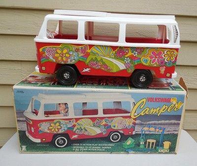 Vintage Barbie camper RARE VW Volkswagen Hippie Mod Accessories 1976 Empire | eBay