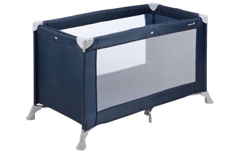 Blue Baby Travel Cot Infant Rectangular Playpen Mattress Folding Portable Bed