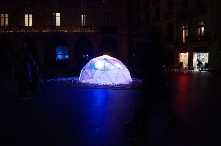 Instalación artística. Jardins de Llum. Manresa, Barcelona. Febrero de 2017.