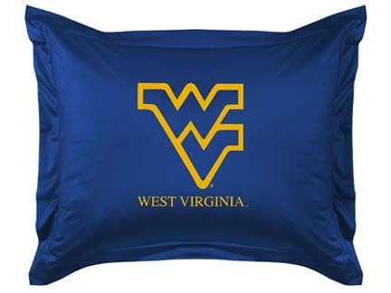West Virginia Mountaineers Coordinating Pillow Sham from 'The Locker Room Collection' by Kentex