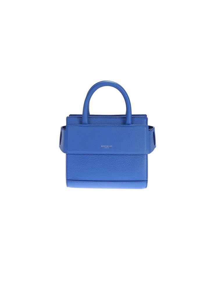 Givenchy Bright Blue Leather Horizon Nano Bag
