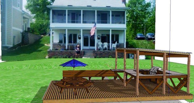 17 best images about izzyville diy lakeside bar on for Sketchup deck design