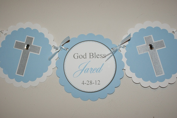 Baby Baptism Christening High Chair Banner by TootnBoo on Etsy, $13.50
