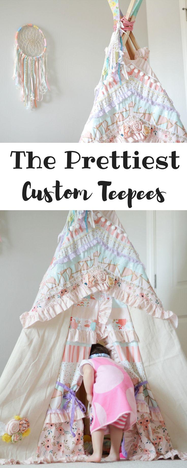 The most gorgeous Teepees ever! | Toddler Teepee | Nursery Decor | Big Girl Bedroom | Custom Teepee | Busy Little Izzy Blog