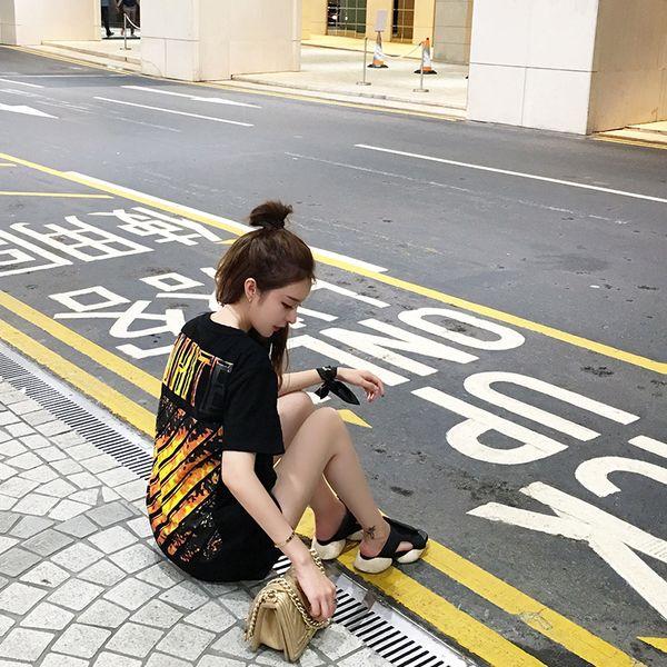 Женские футболки из Китая :: Корейская версия лета, легко для похудения пламени…
