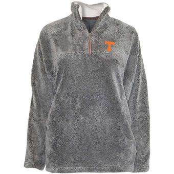 Tennessee Volunteers Women's Gray Shaggy Super Plush Fleece Quarter-Zip Jacket