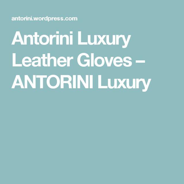 Antorini Luxury Leather Gloves – ANTORINI Luxury