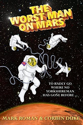 The Worst Man on Mars:   Hero. Legend. Role model. He's none of those./bbr /br /Flint Dugdale, blunt Yorkshireman and reality TV show winner, has used his large frame and 'persuasive personality' to take charge of Britain's first mission to Mars.br /br /Little does he know that the base – built by an advance party of incompetent robots – is not quite ready yet, with no food, no water and no doors. Worse, the ship's scanners are picking up strange signals from the surface.br /br /There ...