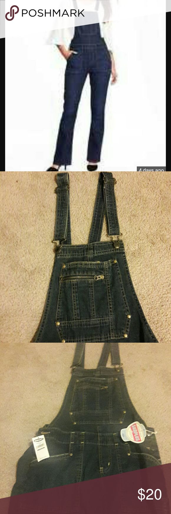 Dark Denim Overalls Super cute Old Navy dark denim overalls. Perfect for a day to lounge, run errands,  family or date night. Old Navy Jeans Overalls