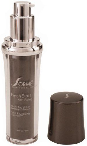 Sorme Cosmetics Fresh Start - Anti-Aging by sorme cosmetics. $19.30. Sorme Cosmetics Fresh StartUnder Foundation Makeup EnhancerThis light, fast-drying formula instantly evens out skin discolorations, smoothes skin texture, and fills in fine lines and wrinkles so that makeup goes on evenly and lasts far longer without touch ups. A powerful blotting ingredient holds up to 10 times its weight in oils for a shine-free, poreless finish. Super antioxidants of Green Tea, Gra...