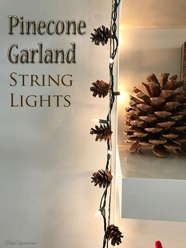 Pinecone Garland by FrugElegance.com We love the simple & rustic beauty of pinecones. We also love what an easy DIY project this is. Come on over and learn how easy it is to create garland for your home.