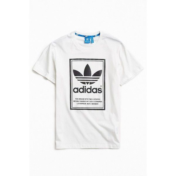 adidas Xeno Framed Tee ($46) ❤ liked on Polyvore featuring men's fashion, men's clothing, men's shirts, men's t-shirts, mens cotton t shirts, j crew mens shirts, mens striped t shirt, mens striped shirt and mens graphic t shirts
