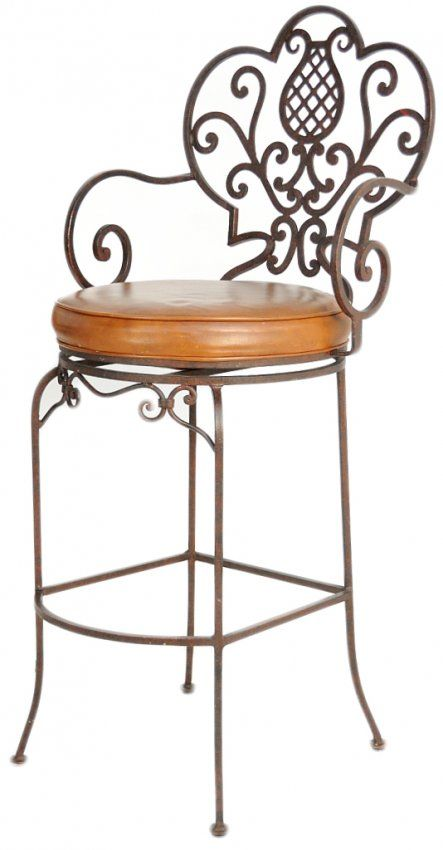 118 Four Filigree Wrought Iron Bar Stools On In 2018 Decor Furniture