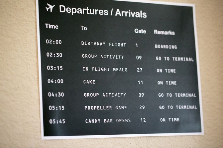 LOVE THIS!  The Departure / Arrival Schedule... very creative!