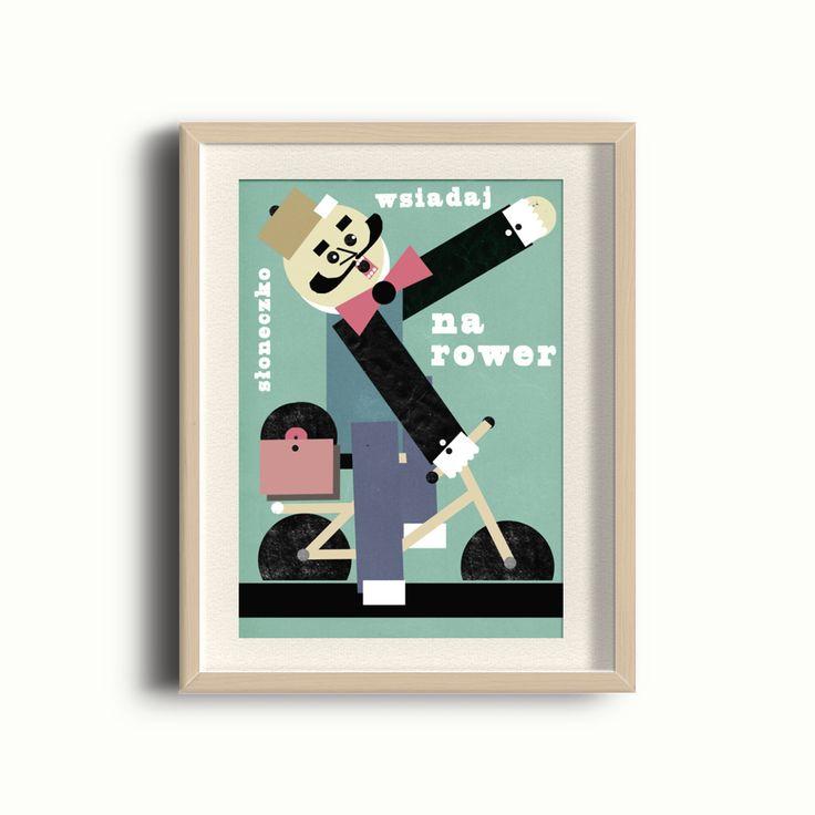 Plakat - Słoneczko wsiadaj na rower 30x40