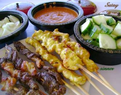 The Waitakere Redneck's Kitchen: Beef & Chicken Satay with Peanut Sauce