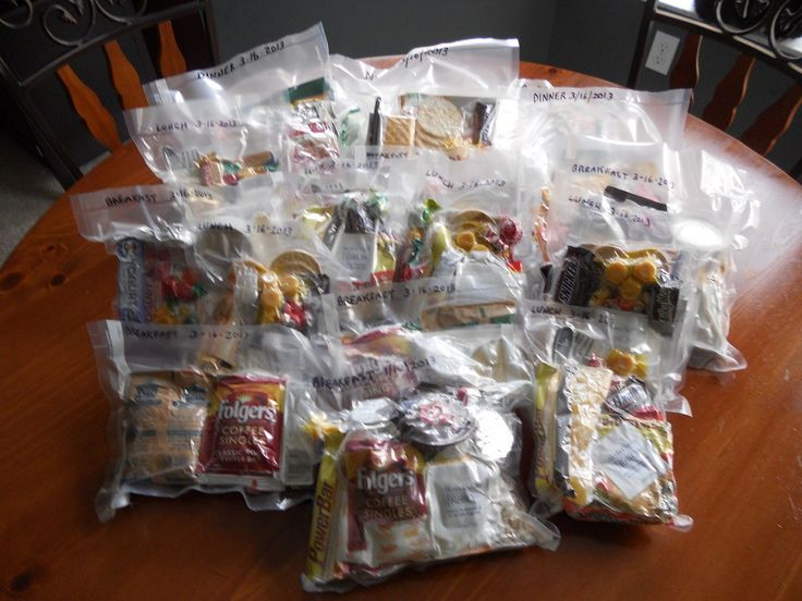 Bug Out Bag Meals: DYI MREs This would be great for scout camp backpacking.