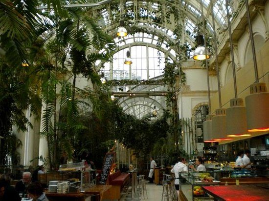 The Palmenhaus restaurant in Vienna inside the former Imperial greenhouse