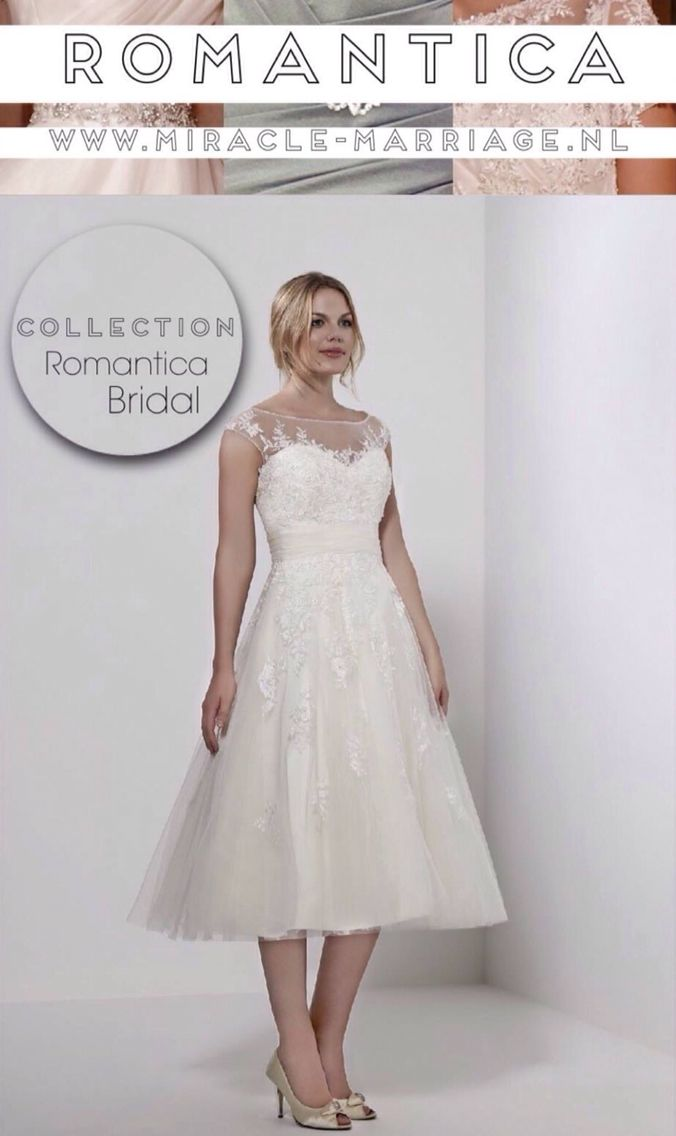#miracleontwerpers Romantica Bridal #romantica #kortejurk #trouwen