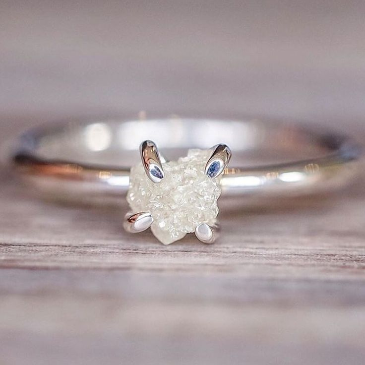 Raw White Diamond Ring    Ethically sourced and the perfect (engagement ?) ring for all of you Bohemian Goddesses    www.indieandharper.com