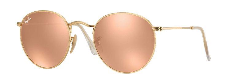 Ray Ban Round Metal Folding Sunglass Gold , Copper Flash Mirror 3532 0 – Sunglass Oasis Online