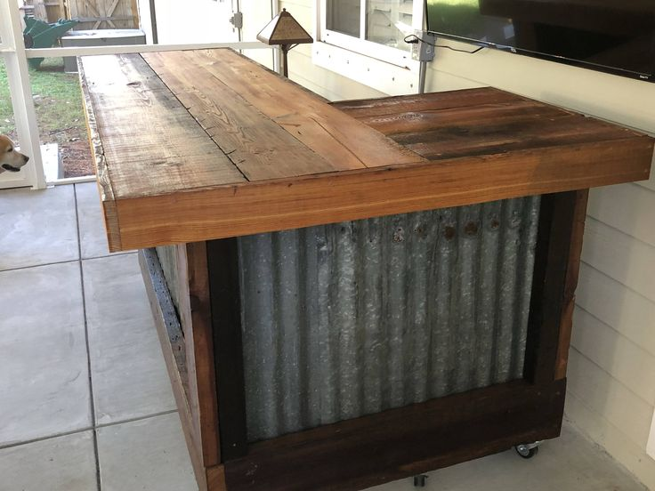 The Rough and Rustic L shaped Bar 7' x 4' L shaped Etsy