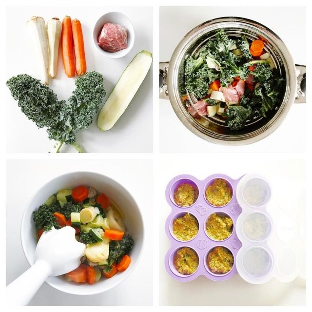 Lamb, kale, carrots, parsnips and zucchini Baby Purée is packed with nutrients that ensures your little one is getting their protein, fat, iron and vitamins