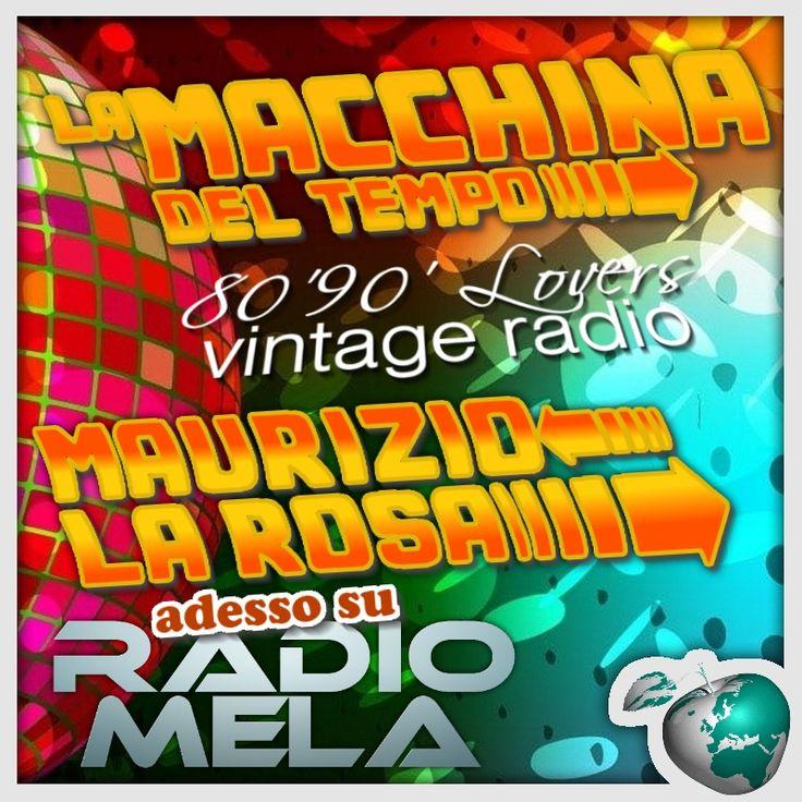 """Ogni Mercoledì ore 22:00 Online c'è """"la Macchina del Tempo"""" http://www.radiomela.it  #vintageradio #webradio #8090lovers"""