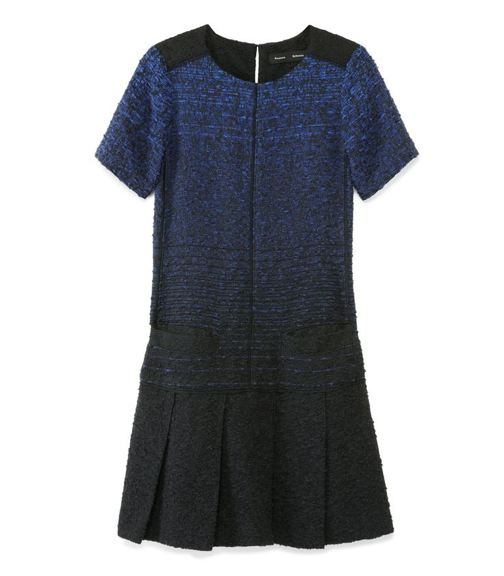Fall Tweed Trend at #ShopBAZAAR - Proenza Schouler Tweed Ombré Drop-waist Dress