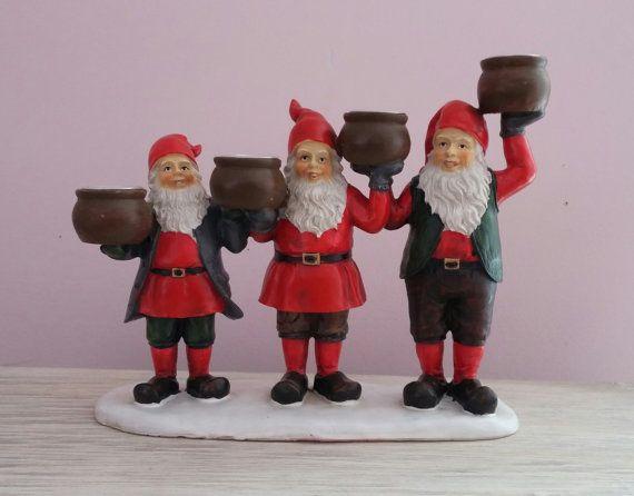 Swedish gnome candle holders