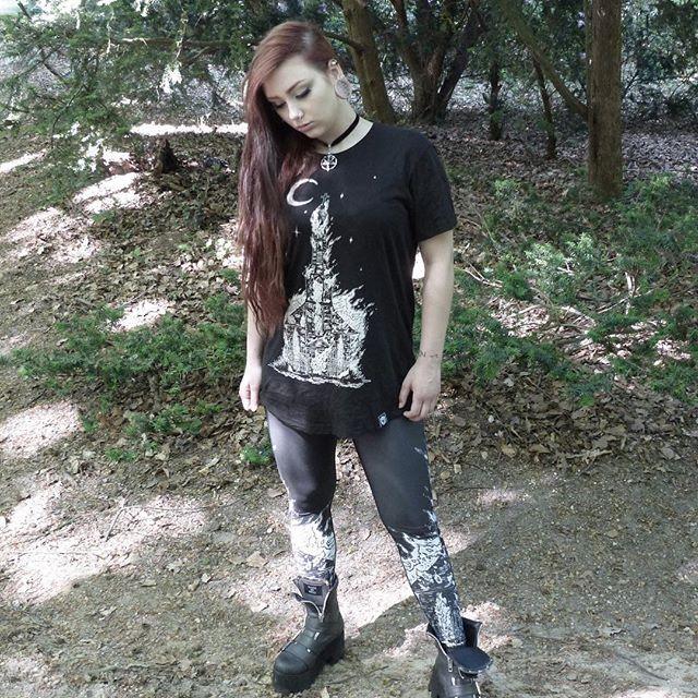 "CRMC X Wirosatan X View from the Coffin ""Aske Til Aske"" Long Tee & CRMC X Wirosatan ""Aske Til Aske"" Leggings Available at www.crmcclothing.co | WE SHIP WORLDWIDE Models - Melina Malicious #burningchurch #tattooist #alternative #blackmetal #fashionstatement #stunning #lit #leggings #womenswear #blackwear #satanswaitin #cute #instacute #beautiful #dailyfashion #styles #style #wearblack #churchburning #darkwear #need #blackwear #want #altfashion #niche #fashionista #iloveblack"