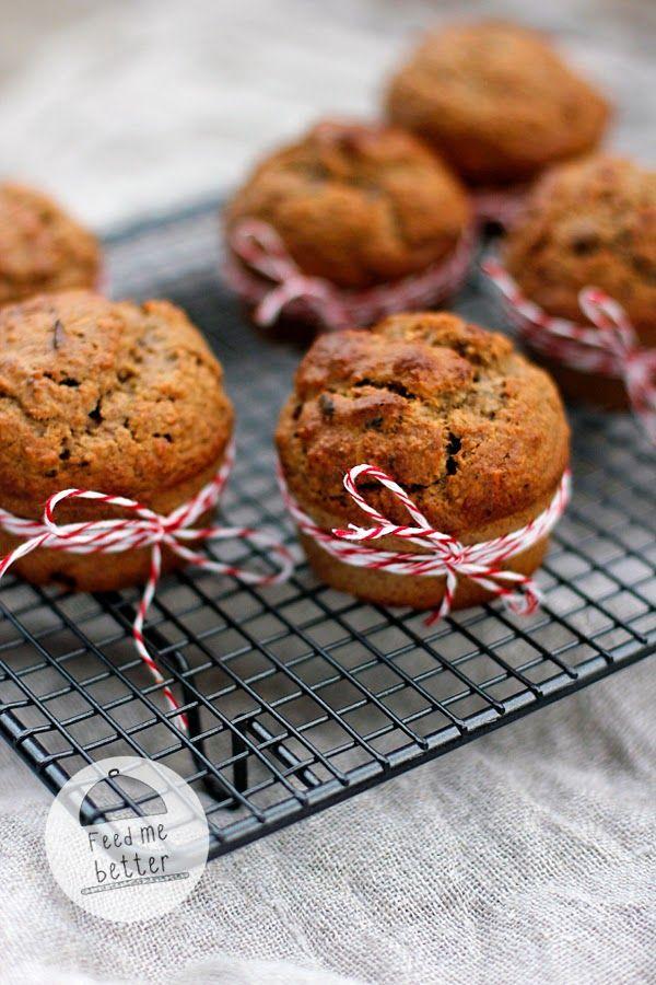 Feed Me Better: Owsiane muffiny migdałowe.