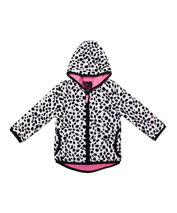 This Girls Rule White & Pink Polka Dot Zip-Up Hoodie - Infant & Toddler by Girls Rule is perfect! #zulilyfinds