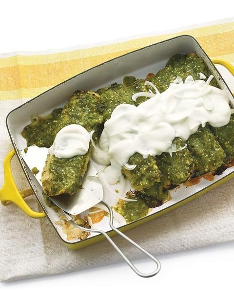 Chicken Enchiladas Verdes | food and drinks | Pinterest