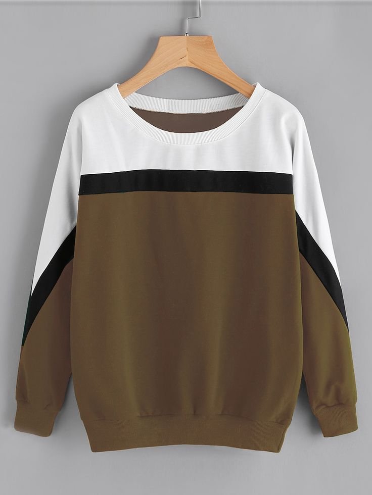 Shop Color Block Cut And Sew Sweatshirt online. SheIn offers Color Block Cut And Sew Sweatshirt & more to fit your fashionable needs.