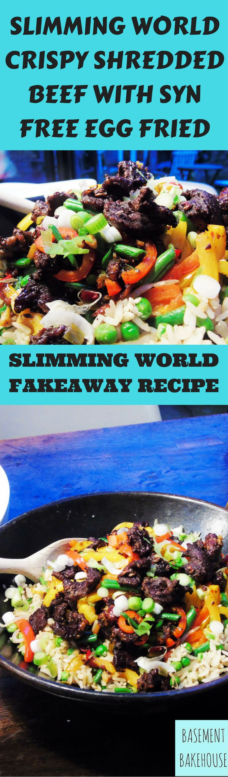 Crispy Chilli & Garlic Shredded Beef with Syn Free Egg Fried Rice - Slimming World Recipe - Fakeaway - Slimming World Fakeaway - Healthy Eating - Food Swap