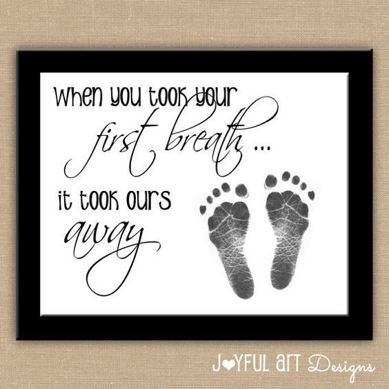 Baby Footprint Keepsake Art