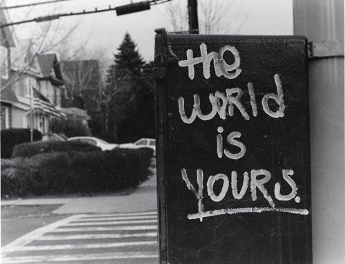 the world is yours – discover it   – walls