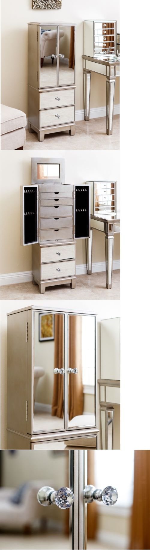 Other Jewelry Holders 168166: Sophie Mirrored Jewelry Armoire Jewelry Storage Box Jewelry Chest Jewelry Holder BUY IT NOW ONLY: $421.99