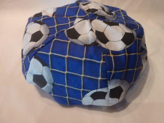 American Girl Doll Bean Bag Chair Blue Soccer By CopperBugCompany