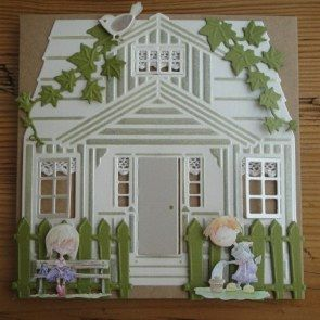This card uses the Marianne Craftables Scandinavian House. We like the way that…