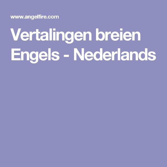 Vertalingen breien Engels - Nederlands