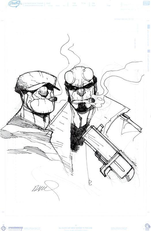 humberto ramos | Commission de Hellboy et du Goon par Humberto Ramos . Ce sketch…