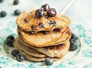 Blueberry, banana and cardamom pancakes #pancakes #LoveYourGut #GutWeek2015